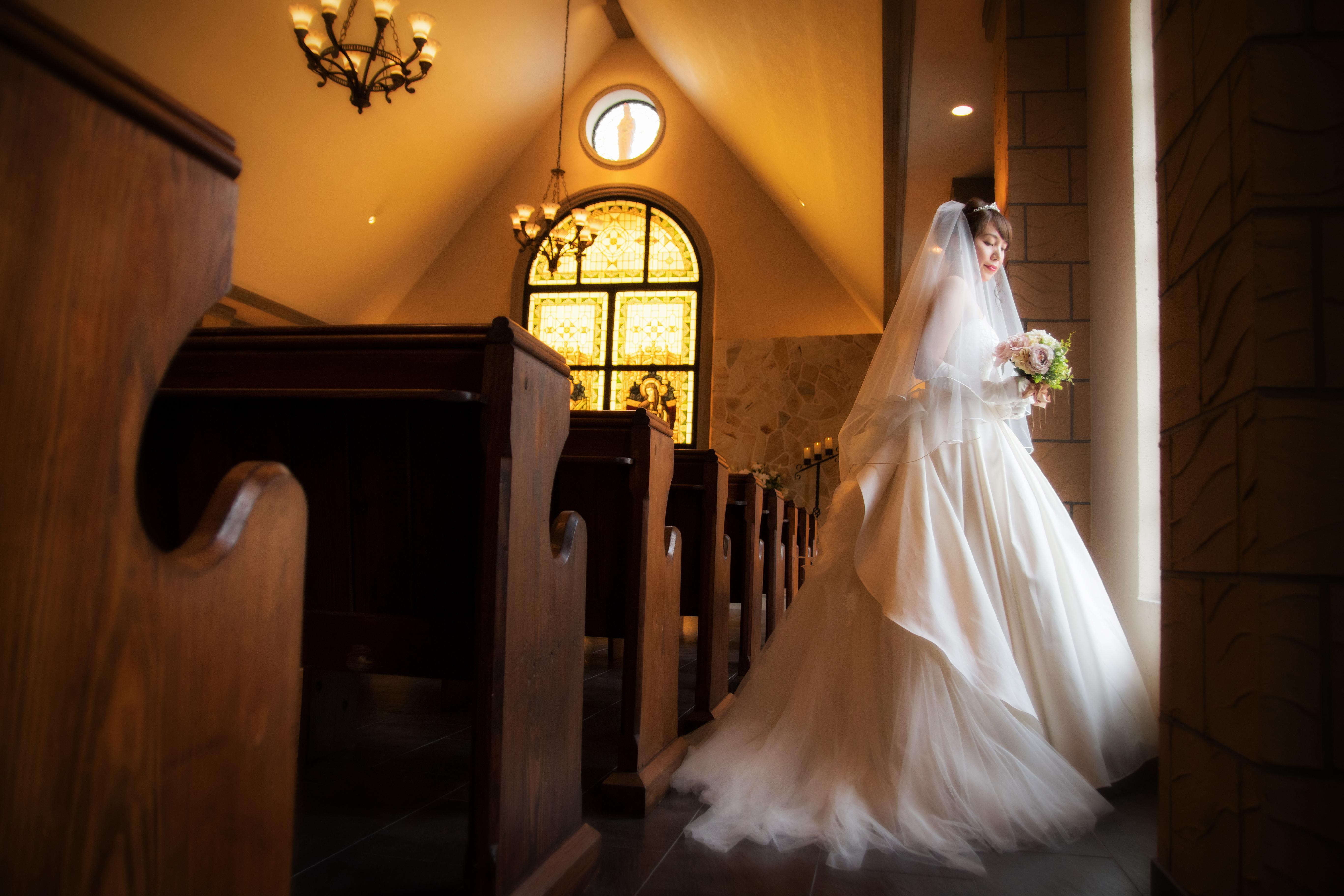 【倉石牛試食付】花嫁の美しさを引き立てる英国風チャペルとゲストおもてなし体験